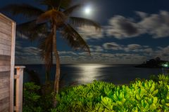 Landschaften der Seychellen-Inseln stockfotos