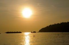 Landschaften des Adaman Meeres Stockfoto