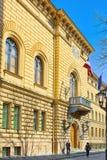 Landschaften des Gebäudes des Saeima von Lettland-Latvian Saeima stockfotos