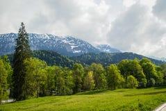 Landschaften im Park Linderhoff, Bayern, Deutschland Lizenzfreies Stockbild