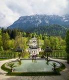 Landschaften im Park Linderhoff, Bayern, Deutschland Lizenzfreies Stockfoto