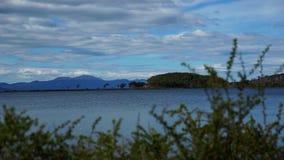 Landschaften und Seen Ushuaia in Argentinien stock footage