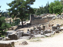 Landschaften von altem Griechenland stockfoto