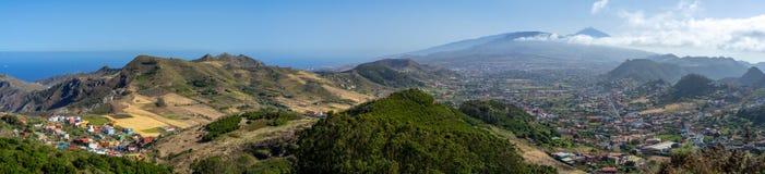 Landschaften von Teneriffa Kanarische Inseln spanien stockfotografie