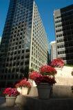 Landschaftlich verschönerte Wolkenkratzer Lizenzfreie Stockfotos