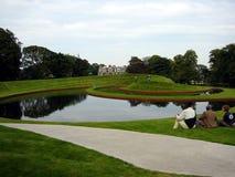 Landschaftlich verschönerter Garten Schottland Stockbild