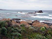 Landschafts-Ansicht eines West-Australien-Strandes lizenzfreie stockfotos