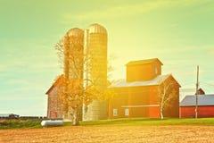 Landschafts-Bauernhof Lizenzfreie Stockfotos