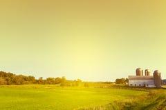 Landschafts-Bauernhof Stockfotografie