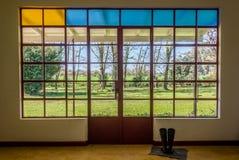 Landschafts-Haus-Fenster. Argentinien, Südamerika. stockfotografie