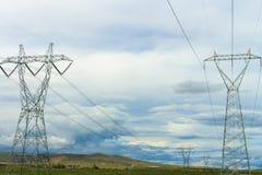 Landschafts-und Großmacht-Linien im Freien Infrastruktur und Natu Stockfoto