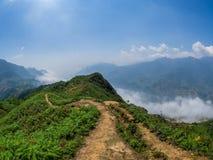 Landschafts- und Reisterrassen nahe Sapa, Vietnam stockfotografie