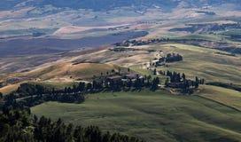 Landschafts-Weg in Toskana stockbild