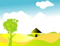 Landschaftsabbildung stock abbildung