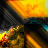 Landschaftsabstrakte Malerei Lizenzfreie Stockbilder