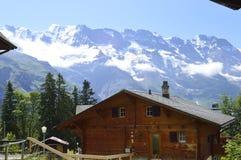 Landschaftsalpe die Schweiz Lizenzfreies Stockbild