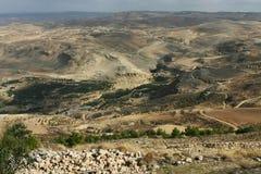 Landschaftsansicht an der Montierung Nebo, Jordanien Lizenzfreie Stockbilder