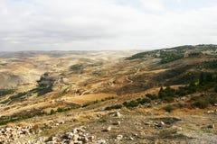 Landschaftsansicht an der Montierung Nebo, Jordanien Lizenzfreie Stockfotos