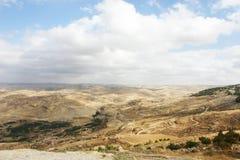 Landschaftsansicht an der Montierung Nebo, Jordanien Stockbilder