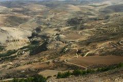 Landschaftsansicht an der Montierung Nebo, Jordanien Lizenzfreie Stockfotografie