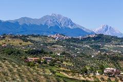 Landschaftsansicht der Natur Marken, Italien Lizenzfreie Stockfotografie