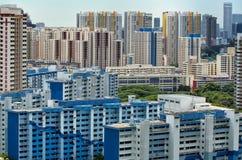 Landschaftsansicht der Singapur-Wohnsiedlung Stockfotografie