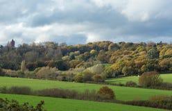 Landschaftsansicht des Hervorquellens in Kent Lizenzfreie Stockfotografie