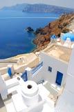 Landschaftsansicht in Santorini Stockfotos