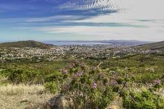 Landschaftsansicht von Cape Town stockbild