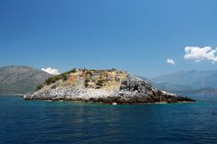 Landschaftsansicht von einer Insel Stockfotos