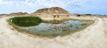 Landschaftsansicht von Las Bardenas Reales Stockfotos