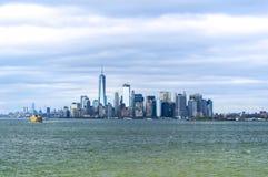 Landschaftsansicht von Skylinen New York City Lizenzfreies Stockbild