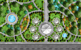 Landschaftsarchitekt-Plan Stockbild