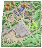 Landschaftsarchitekt-Zeichnung Lizenzfreies Stockfoto