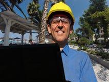 Landschaftsarchitektur-Ingenieur With Laptop Computer Lizenzfreie Stockfotos