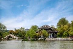 Landschaftsarchitektur von Yangzhou schlankes Westsee Stockbilder