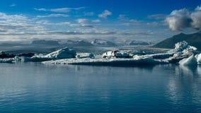 Landschaftsbild der isländischen Gletscherbucht Stockbilder