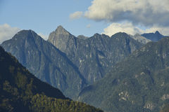 Landschaftsbild von Patagoniabergen von Süd-Chile lizenzfreies stockbild