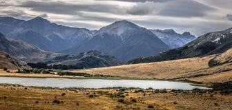Landschaftsbild von Südinsel, Neuseeland stockfotografie