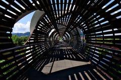 Landschaftsbrückenschattenbild stockfotografie