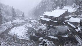 Landschaftschneefälle Lizenzfreies Stockfoto