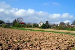 Landschaftsfeld Stockfoto