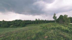 Landschaftsfelder im Herbst - Weinleseeffekt Lizenzfreie Stockbilder