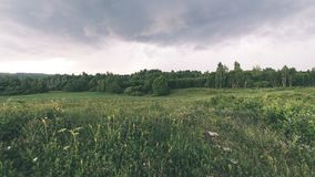 Landschaftsfelder im Herbst - Weinleseeffekt Lizenzfreies Stockbild