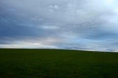Landschaftsfelder im Vorfrühling Stockfotos