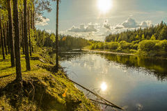 Landschaftsfluß Lizenzfreie Stockfotos