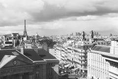 Landschaftsfoto über Paris vom Pantheondachgeschoss lizenzfreie stockbilder
