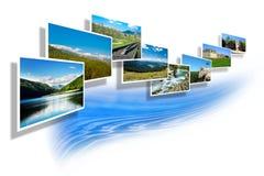 Landschaftsfotos auf Weiß Lizenzfreie Stockfotos