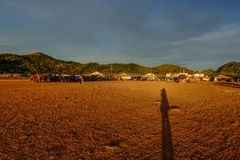 Landschaftsgemeinde auf Coron-Insel stockbild