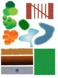 Landschaftsgestaltung der Ikonen lizenzfreie abbildung